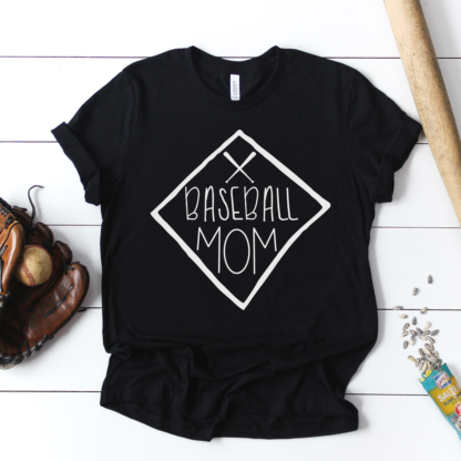 Baseball Mom - Hand Lettered Design - Mom Shirt