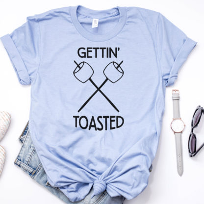 Gettin' Toasted Camping Shirt - Drinking by the Campfire