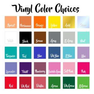 Adhesive Vinyl Color Choices