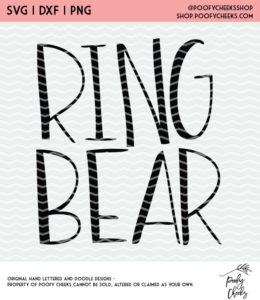 Ring Bear Cut File for Silhouette Cameo and Cricut cutting machines. #cutfile #ringbear #wedding