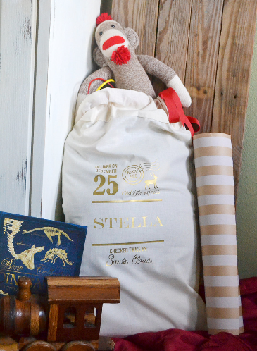 Santa Sack - Personalized Christmas keepsake to use year after year.
