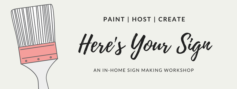 Here's Your Sign Workshop. An in-home sign making workshop in Central Florida.