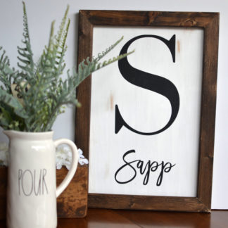 Here's Your Sign Workshop - Family Name Sign