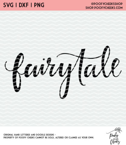 Fairytale cut file for Silhouette and Cricut. DXF, SVG and PNG for instant download. #cutfile
