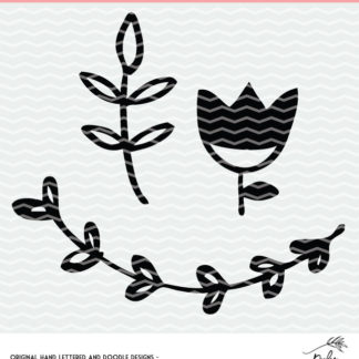 Floral designs cut file for Silhouette and Cricut. DXF, SVG and PNG for instant download. #cutfile