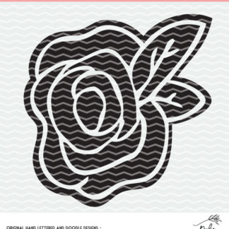 Flower cut file for Silhouette and Cricut. DXF, SVG and PNG for instant download. #cutfile