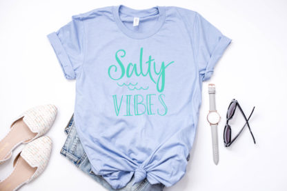 Salty Vibes tshirt. Great for any activity near the salty waters of the ocean.