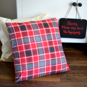 Soft Flannel Pillow Cover. Get ready for Christmas with our farmhouse inspired holiday collection.