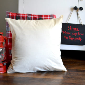Muslin Pillow Cover. Get ready for Christmas with our farmhouse inspired holiday collection.
