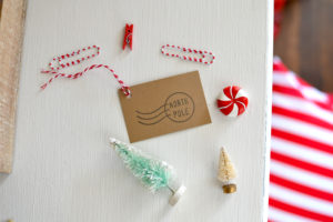 North Pole Christmas Gift Tags - Set of 12 with twine. Top off your farmhouse Christmas gift with these kraft paper tags.