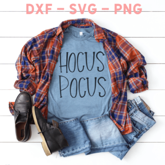 Hocus Pocus Cut File - Use with your Silhouette or Cricut cutting machine. DXF, PNG and SVG file.