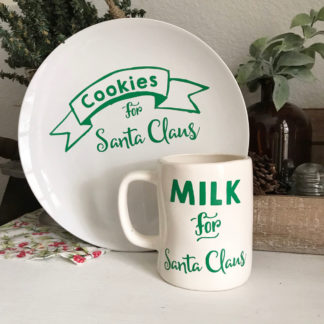 Milk and Cookies for Santa Vinyl Labels