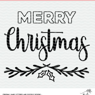 Merry Christmas Cut File for use with Cricut and Silhouette.
