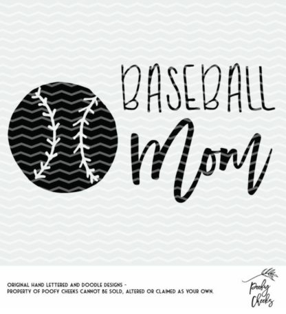 Baseball Mom cut file. Baseball cut files for use with Silhouette and Cricut