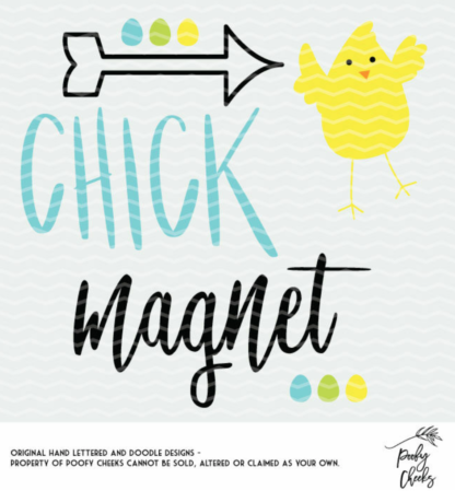 Chick Magnet cut files for use with Silhouette and Cricut. SVG, PNG and DXF files for instant download.