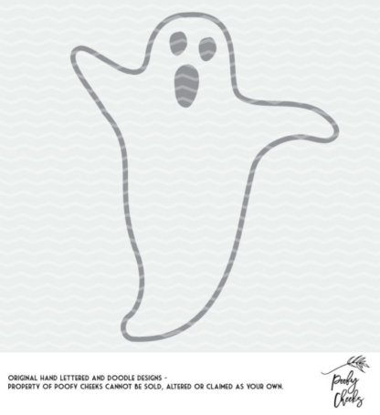 Ghost cut file for use with Silhouette and Cricut. SVG, DXF and PNG