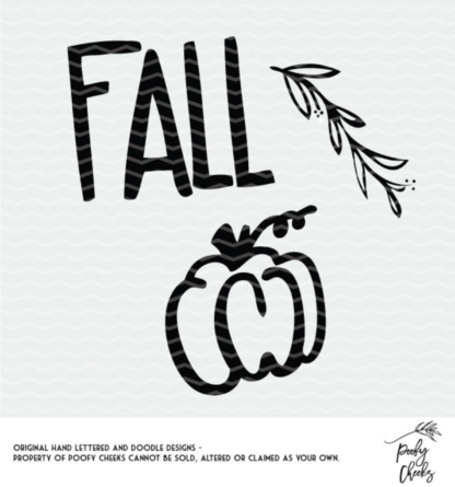 Fall Pumpkin Cut File - SVG, DXF and PNG for use with Cricut and Silhouette.