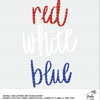 Red, White and Blue Cut File for use with Silhouette and Cricut cutting machines.