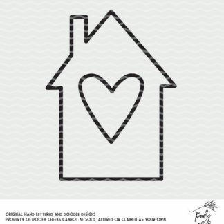 Heart House SVG, DXF and PNG. Cut file for Silhouette and Cricut.