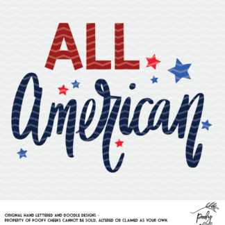 All American cut filer for use with Cricut and Silhouette. Patriotic SVG, DXF and PNG