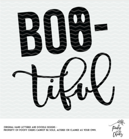 BOOtiful Halloween Cut File for Silhouette and Cricut. DXF, PNG, SVG files for cutting machines.