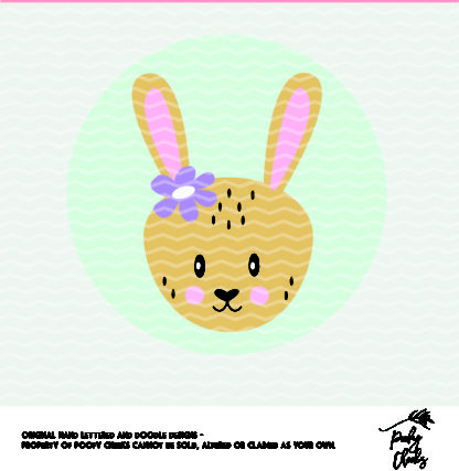 Bunny cut file. Cut file for use with Silhouette and Cricut. DXF, SVG, PNG