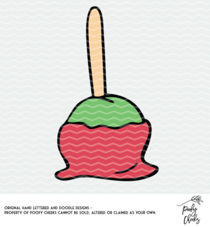 Candy Apple and Caramel Apple Cut File. Cut file for use with Silhouette and Cricut cutting machines. DXF, PNG and SVG downloads. #cutfile #halloween