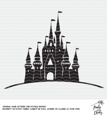 Castle cut file for use with Silhouette and Cricut. DXF, PNG and SVG