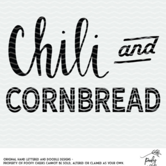 Chili and Cornbread Cut File for Silhouette and Cricut