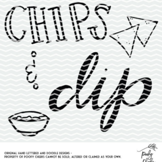 Chips and Dip Cut File. Cut file for Silhouette and Cricut.