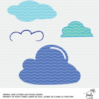 Cloud cut file for use with Silhouette and Cricut. SVG, PNG, DXF