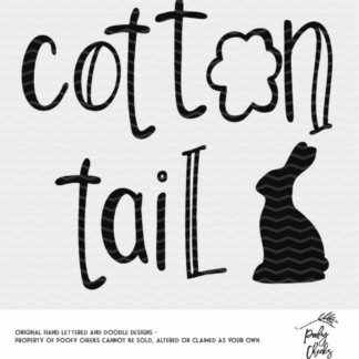 Cotton tail cut file. Cut file for Silhouette and Cricut machines. SVG and DXF files from PoofyCheeks.com