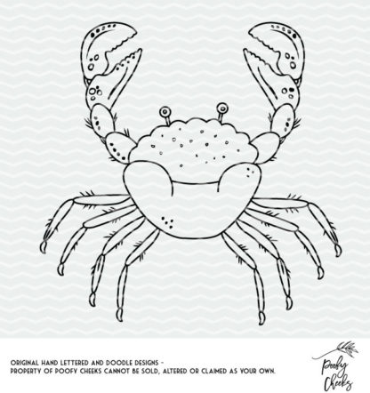 Crab Cut File for use with Silhouette and Cricut cutting machines. Get instant download in SVG, PNG and DXF format.