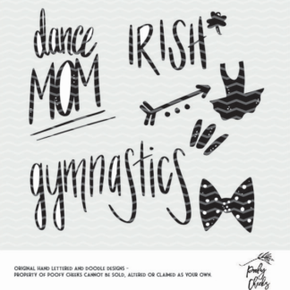 Dance cut files for dance mom, irish dance, gymnastics and more. Cut file for use with Silhouette and Cricut. DXF, PNG SVG