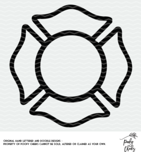 Fire fighter monogram cut file for use with Silhouette and Cricut. SVG, DXF and PNG