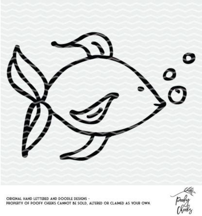 Fishy, fishy cut file. Cut file for Silhouette and Cricut cutting machines.