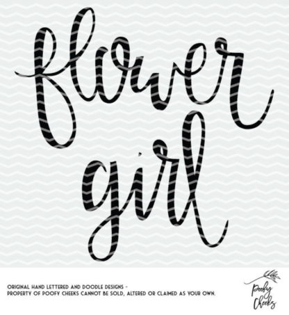 Flower Girl SVG and DXF for use with Cricut and Silhouette.