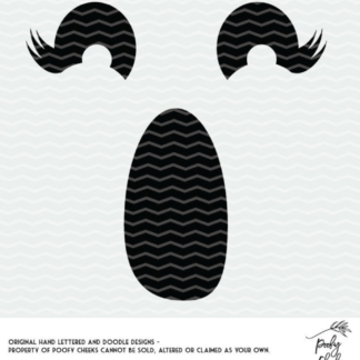 Girl ghost cut file for Silhouette and Cricut. DXF, PNG and SVG freebie cut files great for Halloween.