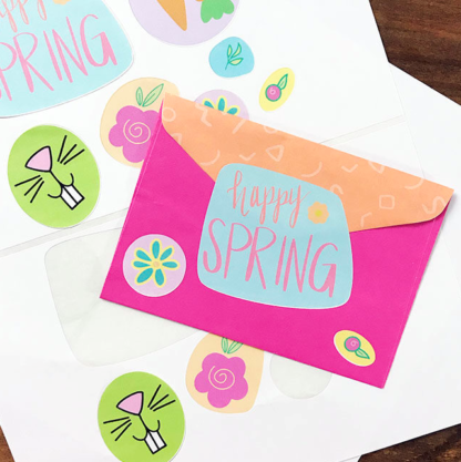 Happy Spring cut files for use with Silhouette and Cricut