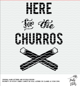 Here for the Churros cut file. SVG, DXF and PNG for use with Silhouette and Cricut cutting machines.