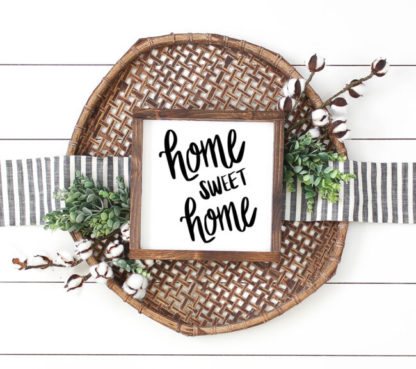 Home Sweet Home Cut File for use with Silhouette and Cricut. SVG, DXF and PNG cut file.