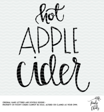 Hot Apple Cider cut file for Silhouette or Cricut. DXF, PNG and SVG