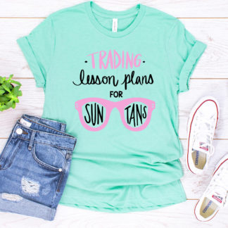 Lesson Plans for Sun Tans cut file. Cut file for use with Silhouette and Cricut. DXF, SVG, PNG
