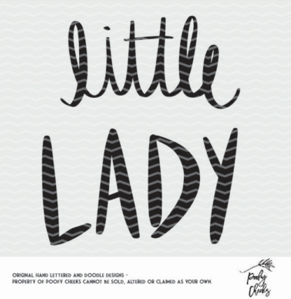 Little Lady cut file for Silhouette and Cricut. SVG, PNG and DXF