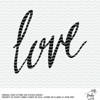 Love cut file for use with Silhouette and Cricut. DXF, SVG and PNG