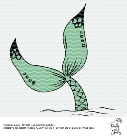 Mermaid Tale Cut File - Mermaid Vibes. DXF, PNG and SVG