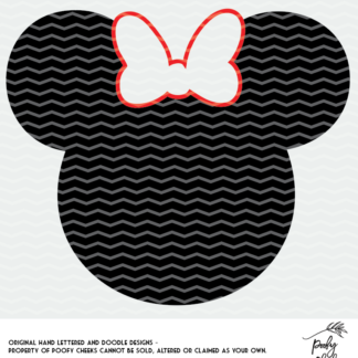 Minnie Mouse with. bow cut file for use with Silhouette and Cricut.