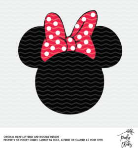 Minnie Mouse cut file for use with Silhouette and Cricut. SVG, PNG and DXF