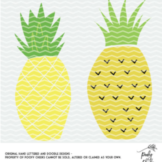 Pineapple Cut File Freebies for Silhouette Cameo and Cricut machine users. Download the PNG, SVG and DXF files