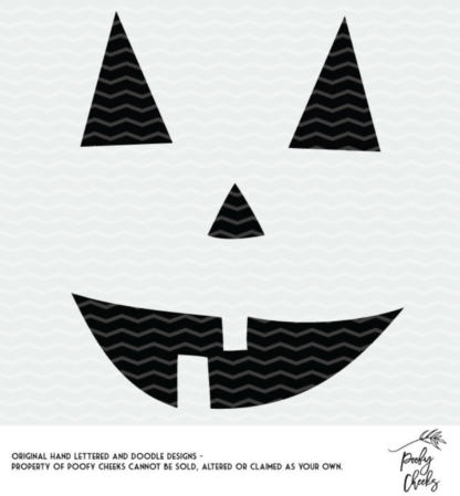 Pumpkin Face Halloween cut files for Silhouette and Cricut cutting machines. SVG, DXF and PNG